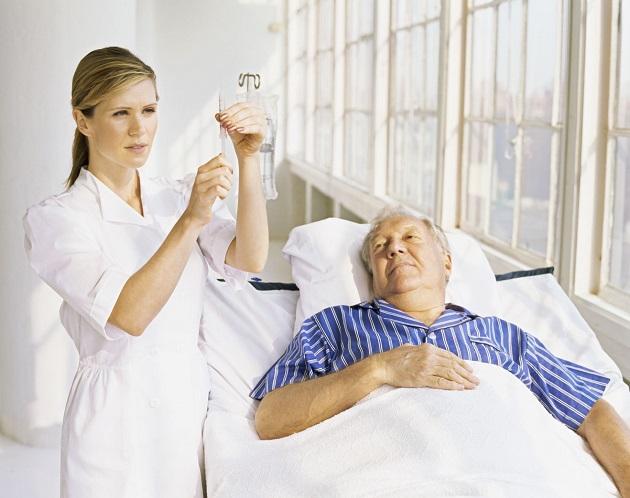 Больной с инфарктом в больнице