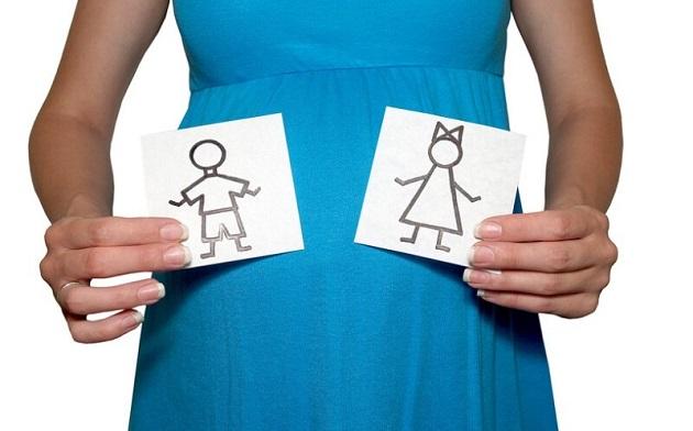 Две карточки в руках ц беременной женщины